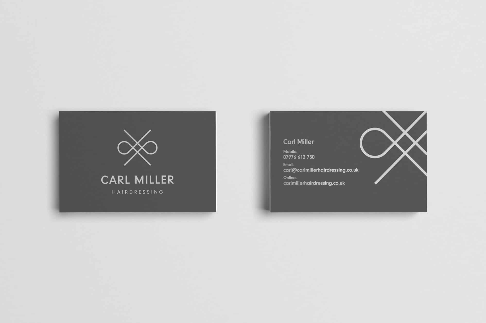 Carl Miller Hairdressing Business Cards