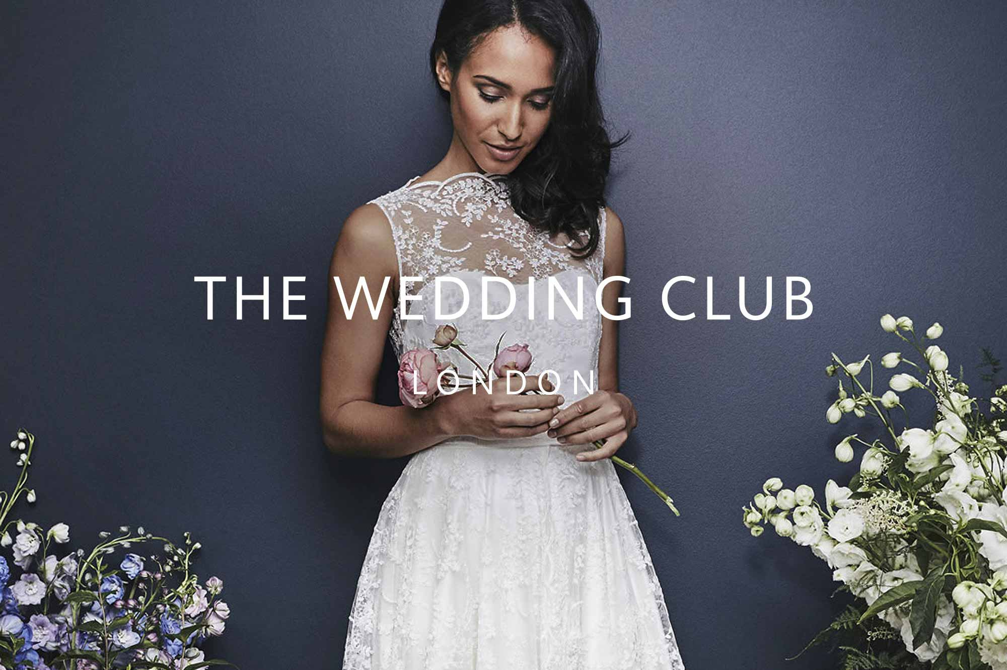 The Wedding Club Logo with Bride Holding Flowers