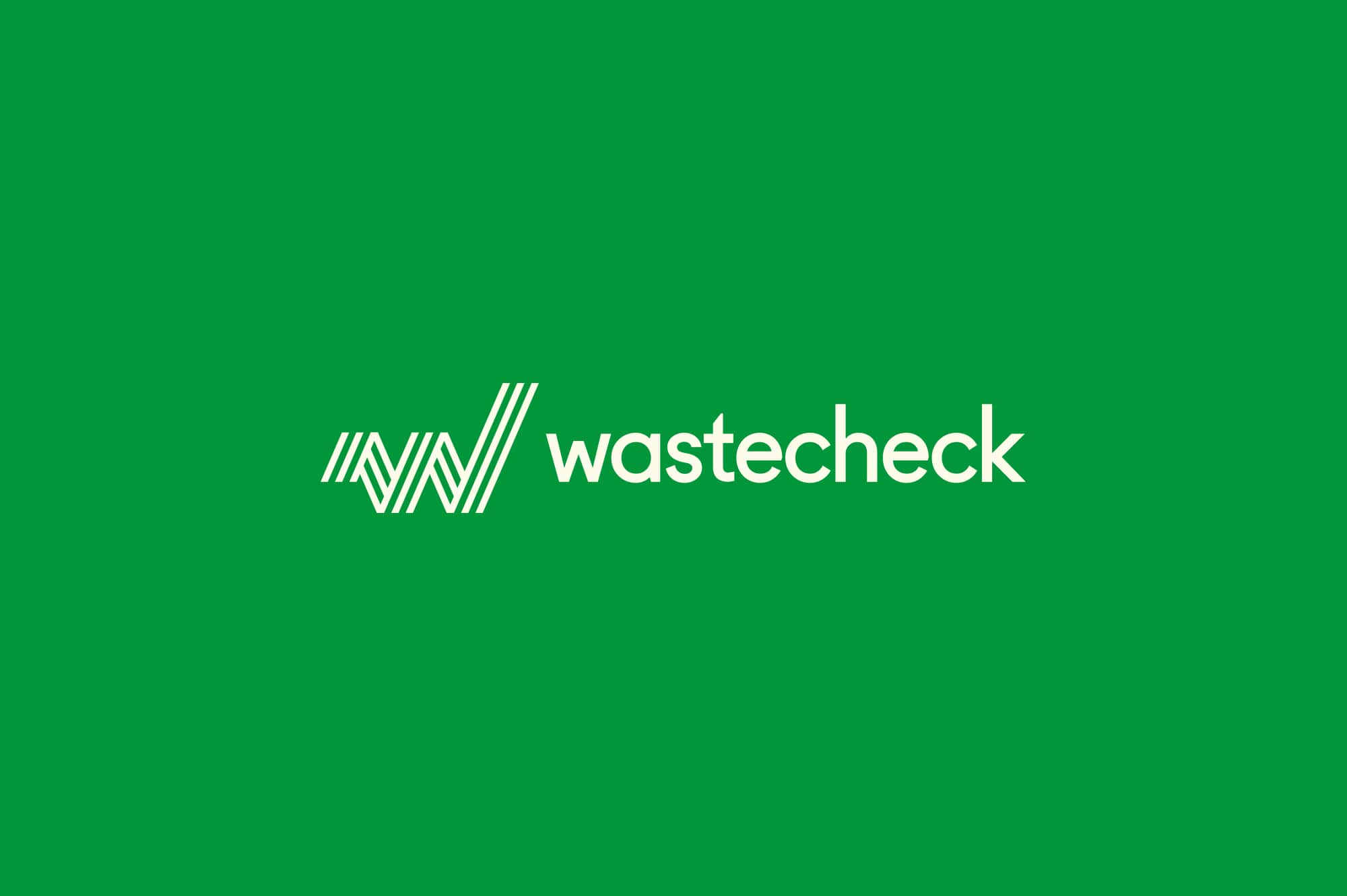 Wastecheck Logo Forest Green Background