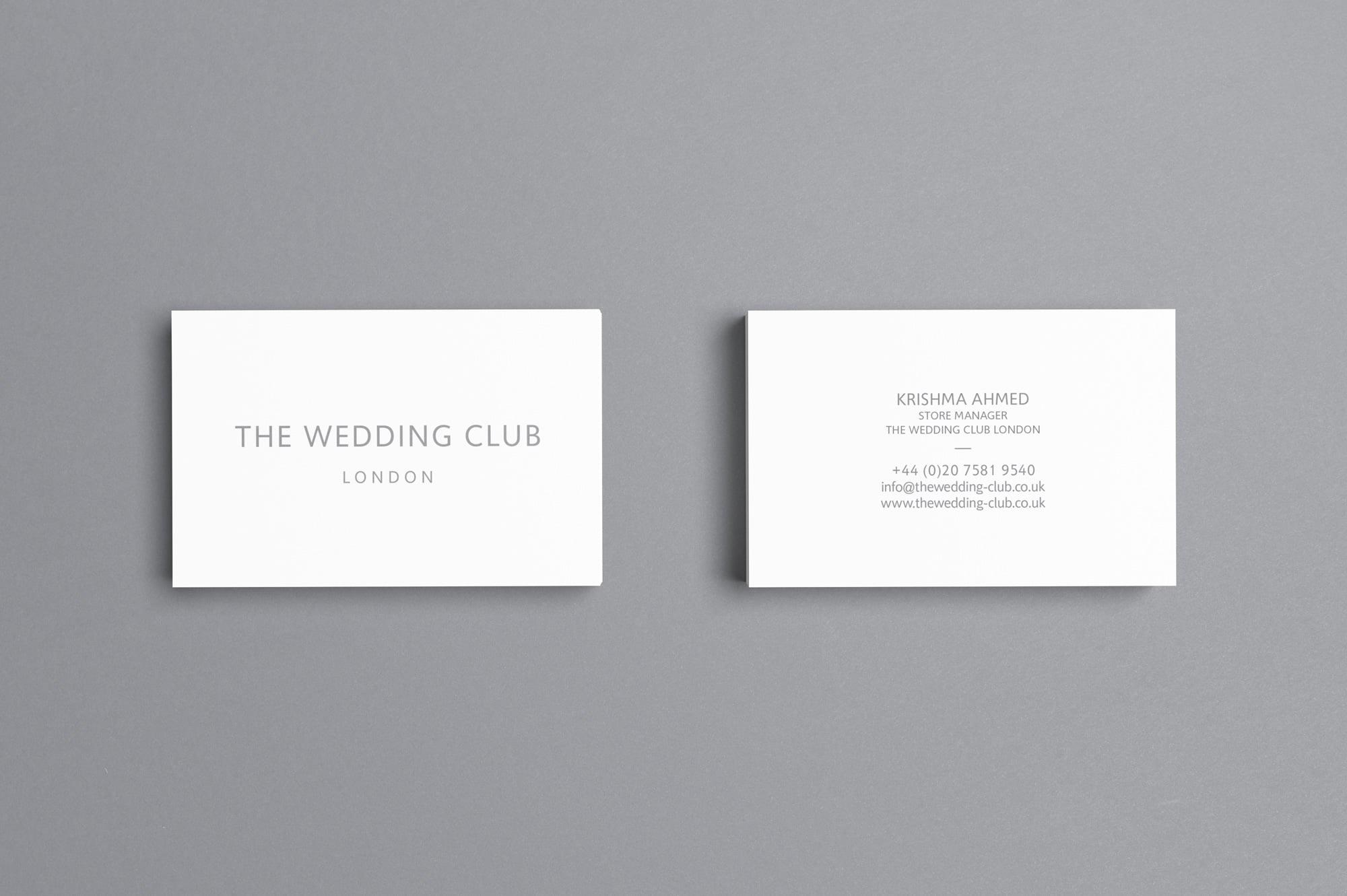 The Wedding Club Business Card