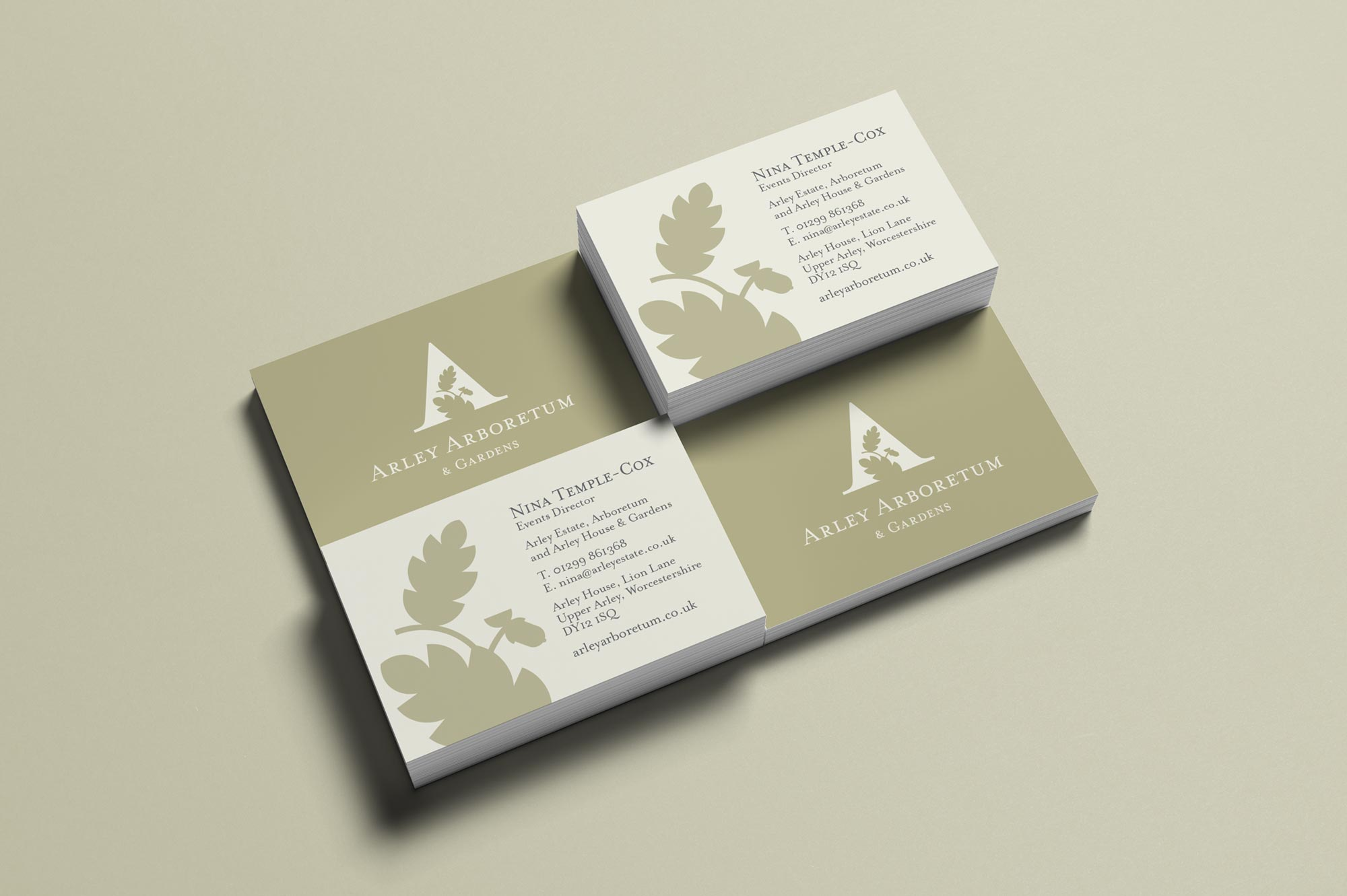 Arley Arboretum Business Cards