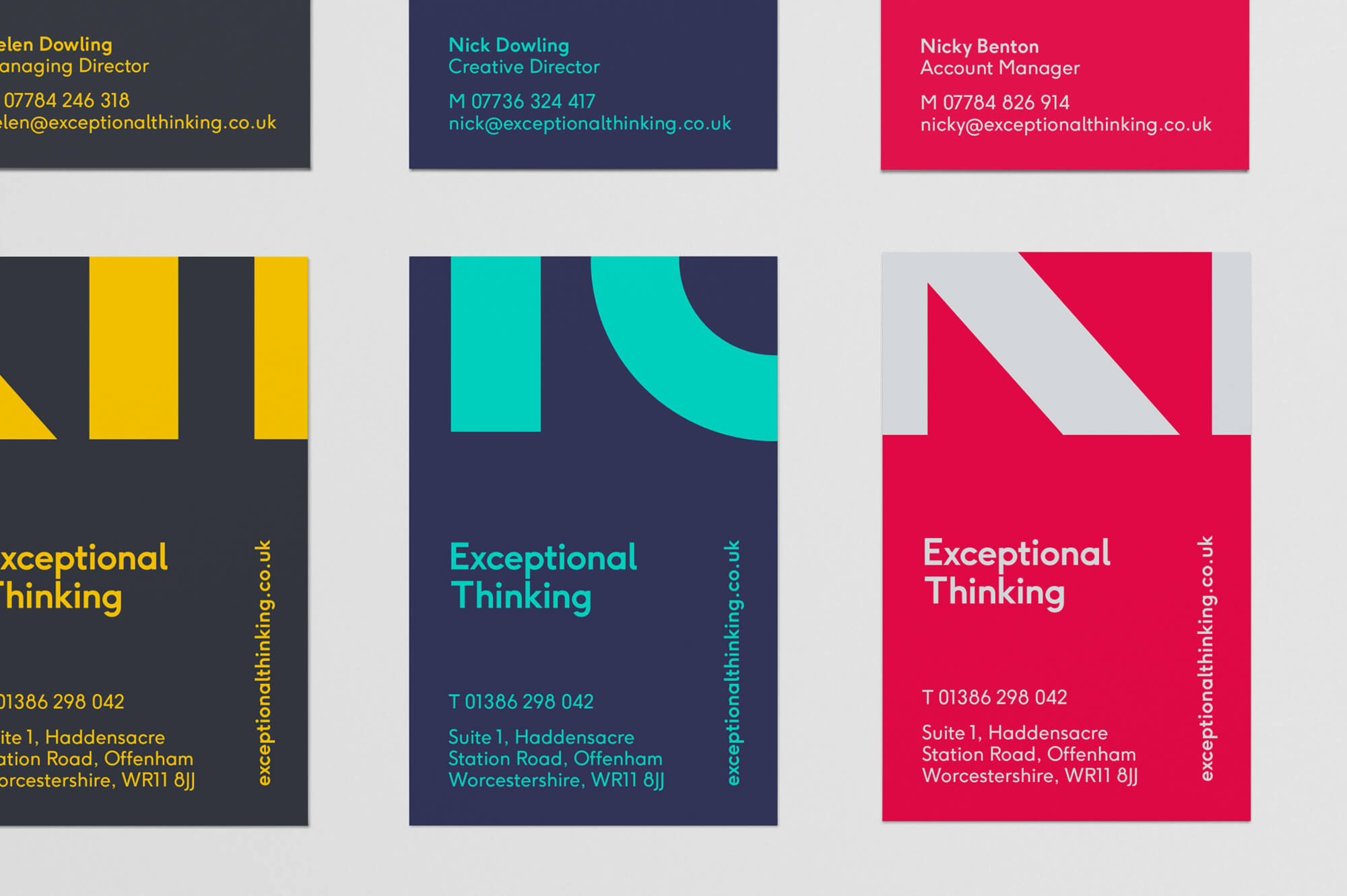 Exceptional Thinking Business Cards