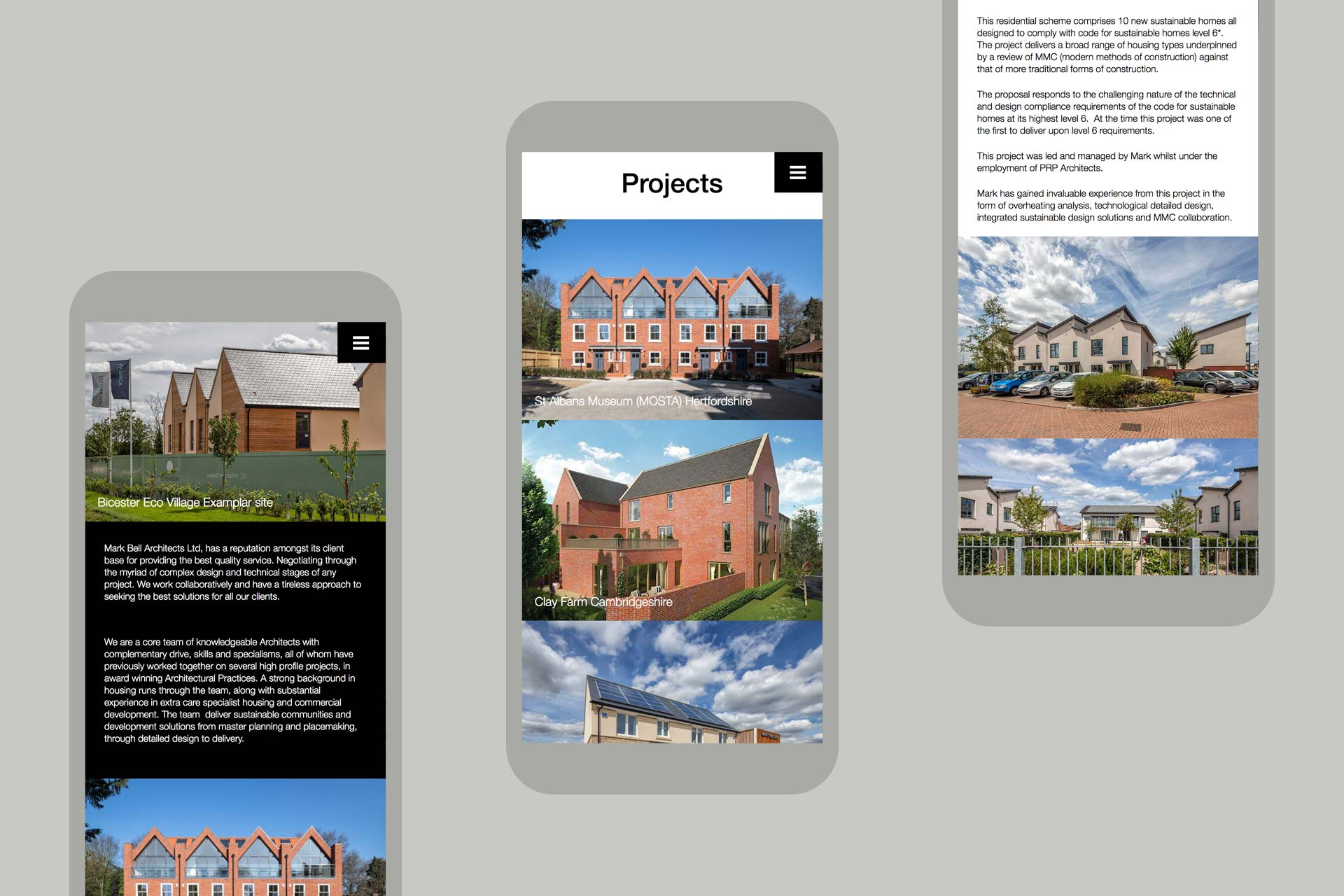 Mark Bell Architects Website