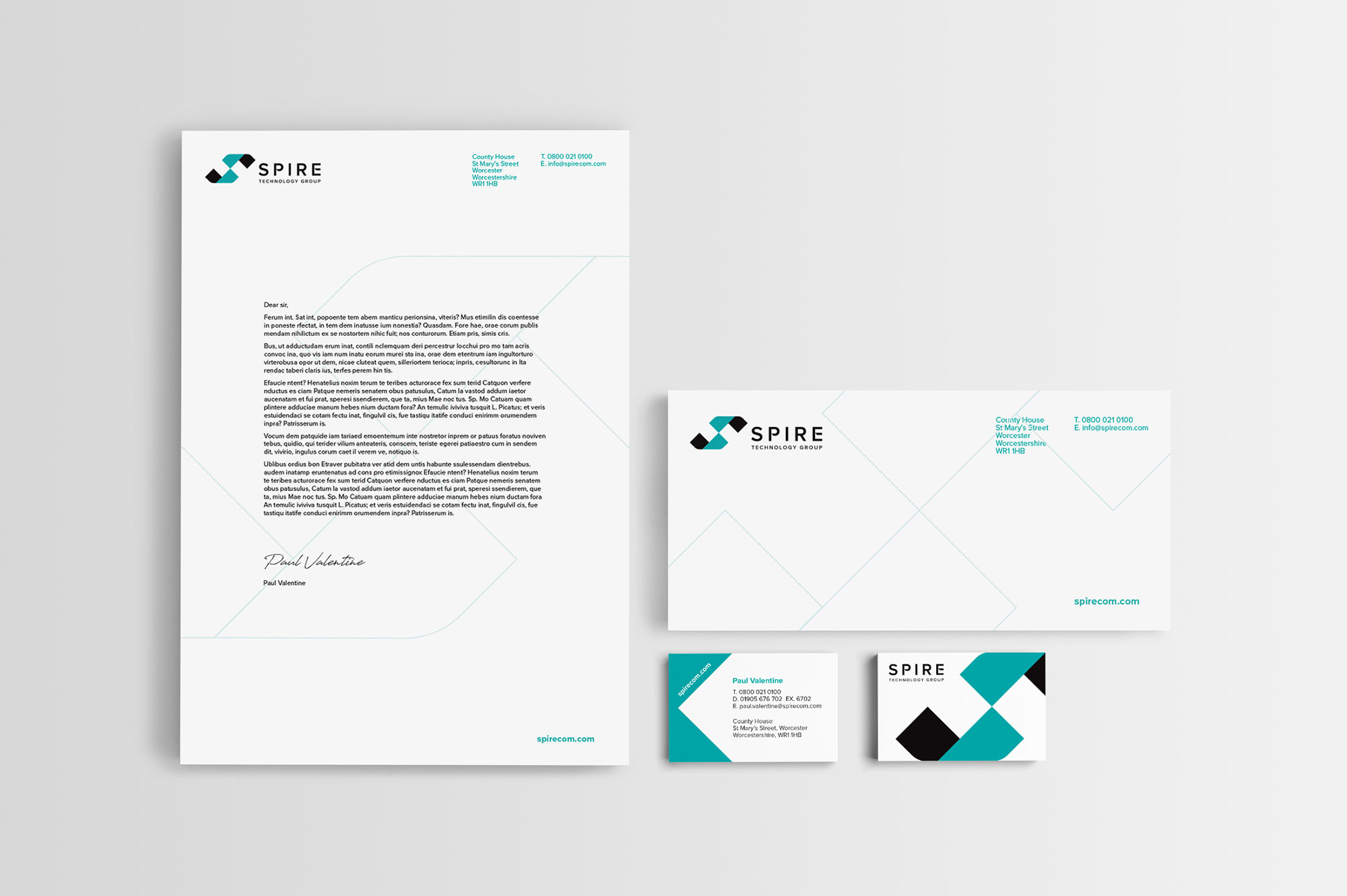 Spire Technology Group stationery