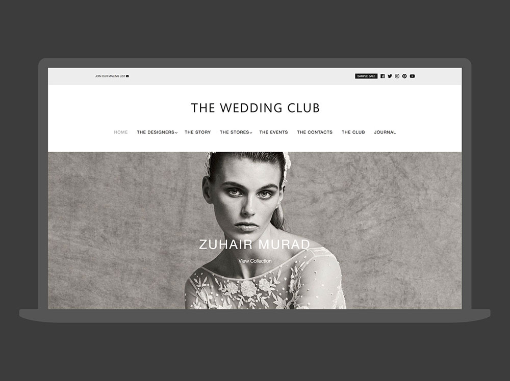 The Wedding Club London Website